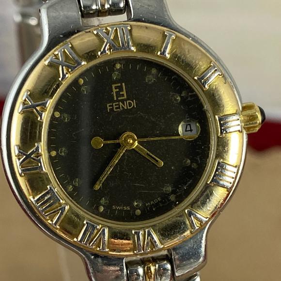 Vintage Fendi Stainless Steel Watch Roman Numerals